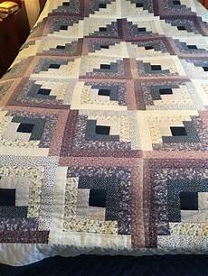log cabin patchwork patterns vintage printed blue white log cabin made quilt ebay