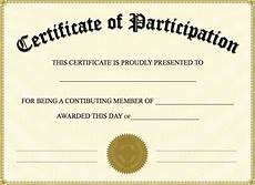 Free Printable Participation Certificates Free Printable Certificate Of Participation