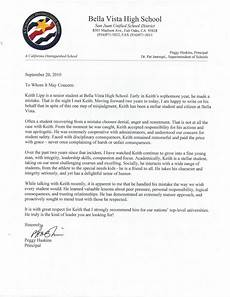 Letter Of Recommendation For Principals High School Principal Letter Of Recommendation