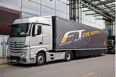 mercedes benz future truck ft 2025 trailer editorial photo