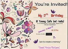 baground undangan ulang tahun kosong kata kata mutiara