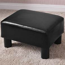 costway small ottoman footrest pu leather footstool