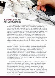How To Write A Autobiography Essay How To Write An Autobiography Of Myself Our Expert Guide
