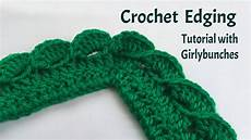 crochet edging crochet wave fan edging tutorial girlybunches