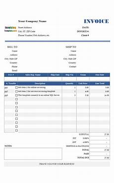 Invoice Selling Microsoft Access Invoice Template