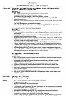 Business Major Resume Finance Amp Business Management Resume Samples Velvet Jobs