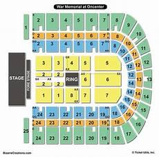 War Memorial Concert Seating Chart War Memorial At Oncenter Seating Chart Seating Charts
