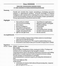 Resume Data Analysis Data Analyst Resume Sample Technical Resumes Livecareer