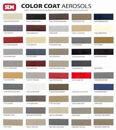 Sem Trim Paint Color Chart Smash Supplies Paint Sem Color Coat Flexible