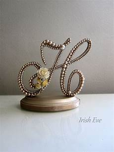 wedding cake topper quot made to order quot in chagne pearl