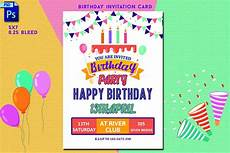 Birthday Invitation Card Size Birthday Invitation Card 346574 Card Making Design