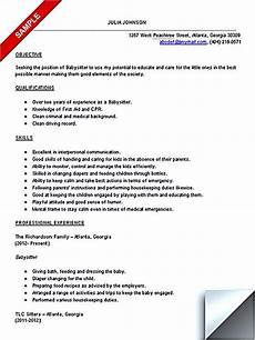 Babysitter Cv Example Things To Know About Making A Good Babysitter Resume