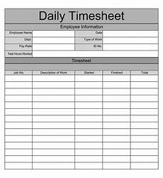 Daily Time Sheets Template 8 Best Images Of Printable Monthly Time Sheets Free