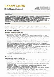 Medical Support Assistant Duties Medical Support Assistant Resume Samples Qwikresume