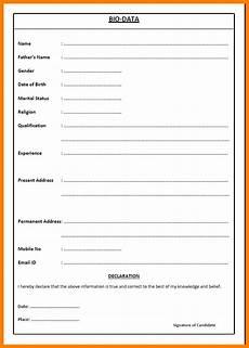 Biodata Application Format Of Biodata For Job Pdf Luxury Sample Of Biodata For