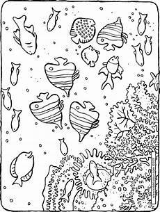 Ausmalbilder Fische Meer Fische Im Meer Kiddimalseite