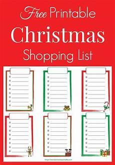 Free Shopping List Free Printable Christmas Shopping List