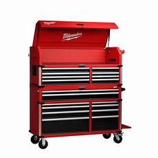 milwaukee high capacity 56 in 18 drawer tool chest and