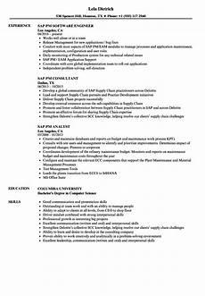 Pm Resumes Sap Pm Resume Samples Velvet Jobs