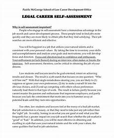 Sample Self Assessment For Work Free 16 Career Assessment Examples In Pdf Examples