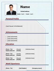 Editable Cv Templates Free Download Download Cv Template Free And Editable On Microsoft Word