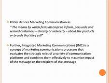 Integrated Marketing Communications Definition Marketing Communication