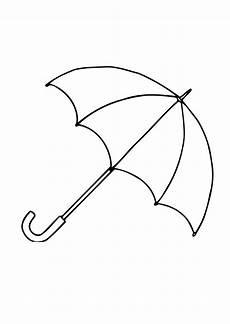Gratis Malvorlagen Regenschirm Malvorlage 01b Regenschirm Offen Kostenlose