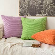 Sofa Pillows 18x18 Set Of 4 3d Image by Miulee Set Of 2 Striped Corduroy Square Throw Pillow