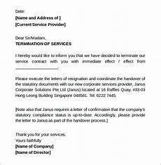 Vendor Termination Letter Free 11 Termination Of Services Letter Templates In Pdf
