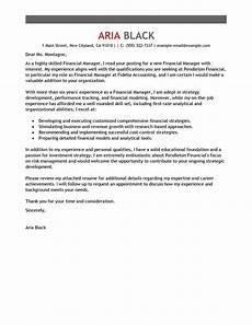 Sample Cover Letter For Finance Manager Position Best Manager Cover Letter Examples Livecareer