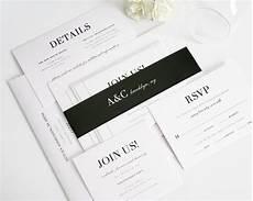 Wedding Invitations Black And White Glamorous Black And White Wedding Invitations Wedding