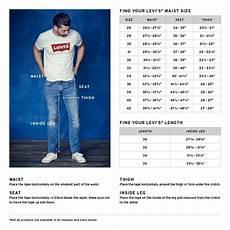 Levis Size Chart Levi 501 Jeans Size Chart Chart