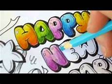 Colored Bubble Letters Graffiti Letters How To Color Bubble Letters Happy New