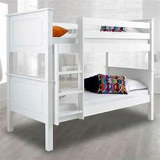 vancouver white finish solid pine wooden bunk bed white