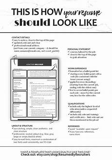 How A Resume Looks Like How Your Cv Should Look Like Professional Well