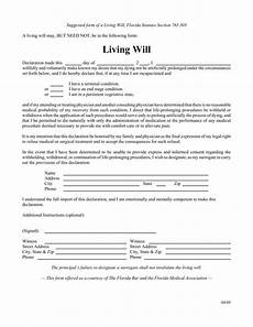 Free Downloadable Will Forms Free Florida Living Will Form Pdf Eforms Free