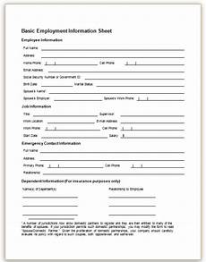 Employment Contact Form This Sample Form Collects Basic Information About An