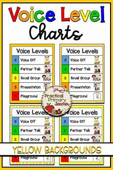 Voice Chart Voice Level Chart Yellow Voice Level Charts Voice