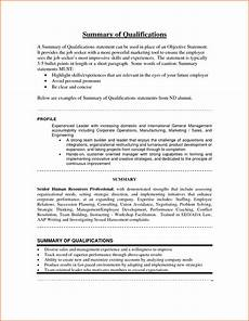 Qualification On A Resumes 7 Statement Of Qualifications Example Registration