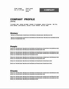 Company Profile Format In Word Free Download Customizable Company Profile Template For Word Document Hub