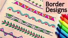 How To Make Chart Paper Decoration How To Decorate Borders Of Project Files Attractive