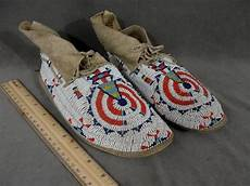 beadwork sioux antique authentic sioux indian beaded moccasins