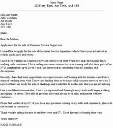 Cover Letter Example For Supervisor Position Customer Service Supervisor Cover Letter Example Icover