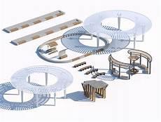 Concrete Sunshade Design Wooden Concrete Sunshade Benches 3d Model Turbosquid 1643315
