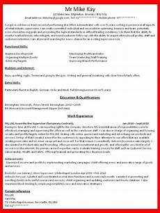 How To Write A Resume For A Job In The Fashion Industry How To Write A Job Resume