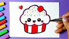 como desenhar cupcake fofo kawaii desenhos bonitos