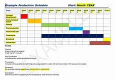 Production Schedule Excel Production Schedule Template Excel Amp Word Excel Tmp