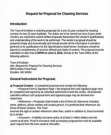 Service Proposal Template Cleaning Service Proposal Template 8 Free Word Pdf