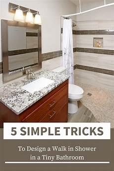 Walk In Shower Ideas For Small Bathrooms 5 Walk In Shower Ideas For A Tiny Bathroom Innovate