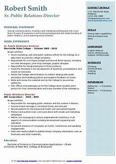 Public Relation Director Resume Public Relations Director Resume Samples Qwikresume